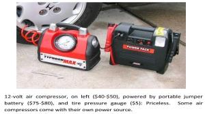 Air Compressor & Battery