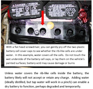Check Water in Battery