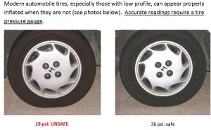 Modern automobile tires -  OK psi v. Low